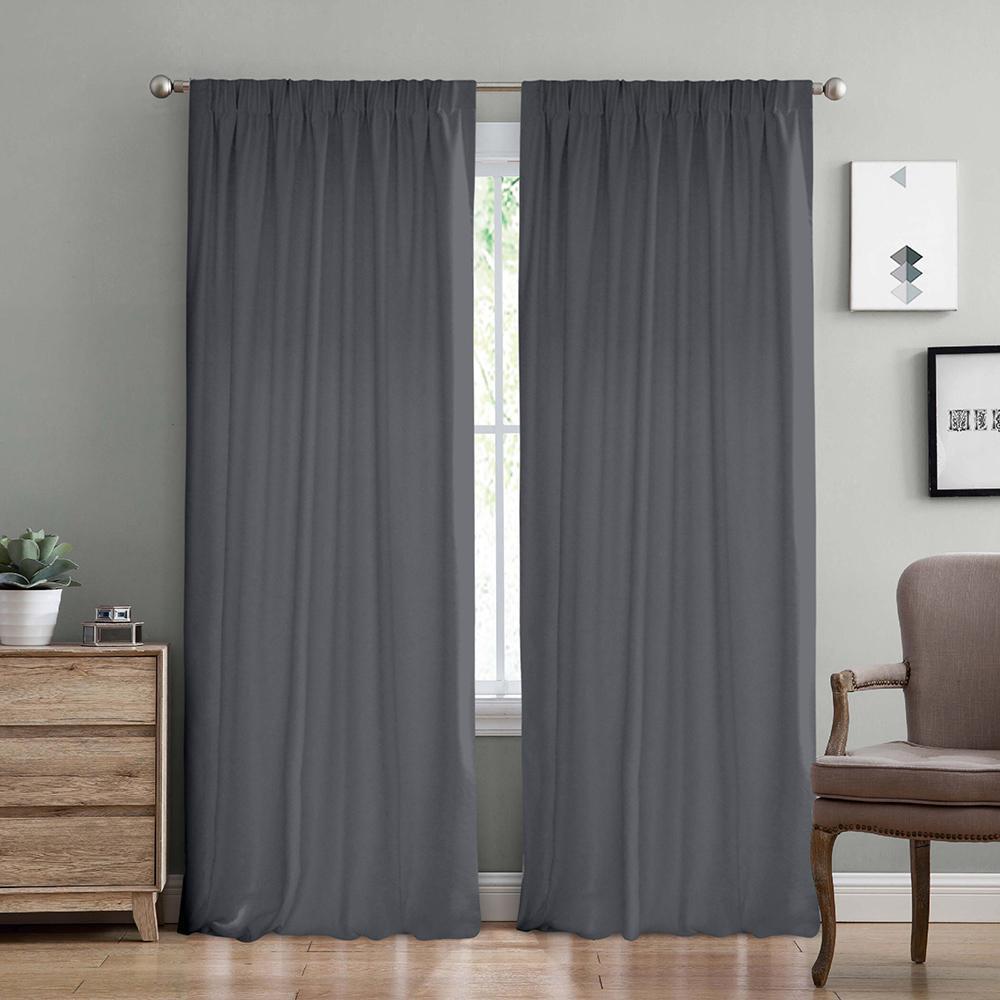 Lino Home Κουρτίνα Με Τρέσα 150x275 C98093 Samos Grey